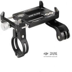 Držák smartphonu a fotoaparátu z hliníkové slitiny na řídítkách kola (Black)