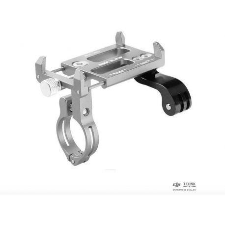 Držák smartphonu a fotoaparátu z hliníkové slitiny na řídítkách kola(Silver)