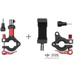 Osmo - Sada držáků smartphonů a držáků akčních kamer pro jízdní kola (červená-černá)